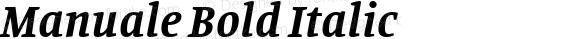 Manuale Bold Italic