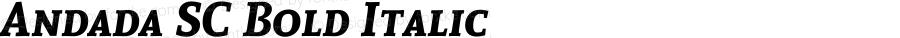 Andada SC Bold Italic