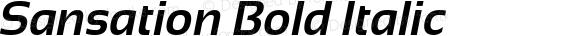 Sansation Bold Italic