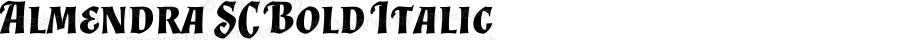 Almendra SC Bold Italic Version 1.0