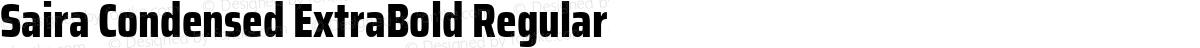 Saira Condensed ExtraBold Regular