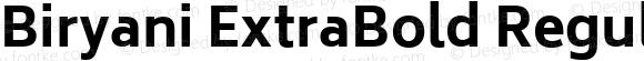 Biryani ExtraBold Regular