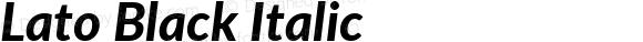Lato Black Italic
