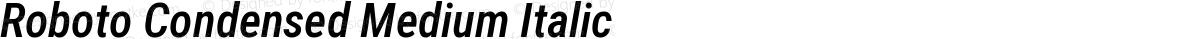 Roboto Condensed Medium Italic