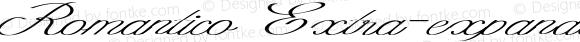 Romantico Extra-expanded Italic