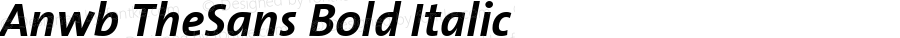 Anwb TheSans Bold Italic Version 2.003
