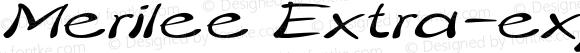 Merilee Extra-expanded Italic