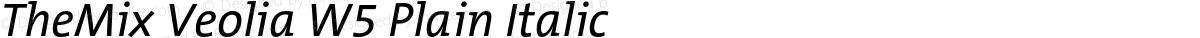 TheMix Veolia W5 Plain Italic