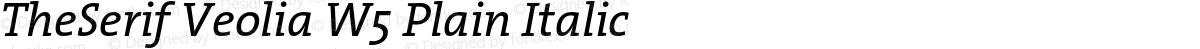 TheSerif Veolia W5 Plain Italic