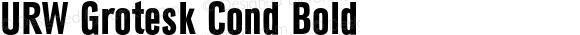 URW Grotesk Cond Bold
