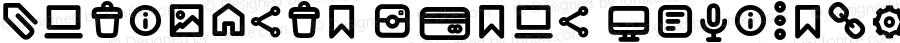 Antipasto Icons DemiBold Version 1.000   wf jerry