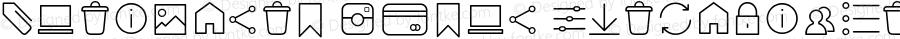 Antipasto Icons ExtraLight Version 1.000 | wf jerry
