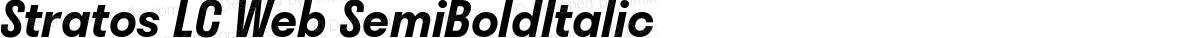 Stratos LC Web SemiBoldItalic