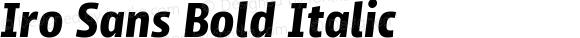 Iro Sans Bold Italic