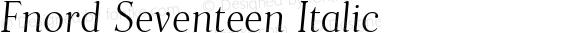 Fnord Seventeen Italic