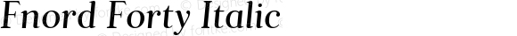 Fnord Forty Italic