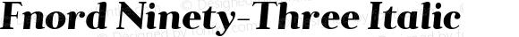 Fnord Ninety-Three Italic