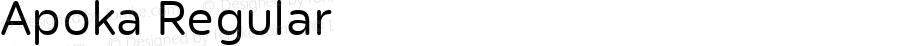 Apoka Regular Version 1.001; ttfautohint (v1.5)