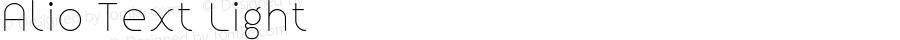 Alio Text Light Version 1.002;PS 001.002;hotconv 1.0.88;makeotf.lib2.5.64775