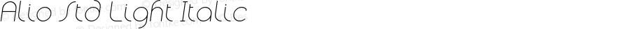 Alio Std Light Italic Version 1.002;PS 001.002;hotconv 1.0.88;makeotf.lib2.5.64775