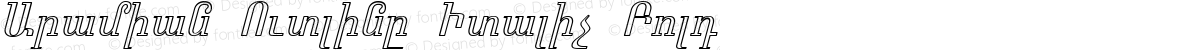 Aramian Outline Italic Bold