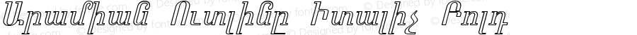 Aramian Outline Italic Bold 1.0 Fri Mar 26 18:35:27 1993