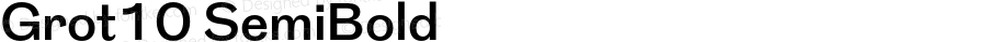 Grot10 SemiBold Version 1.001; ttfautohint (v1.4)