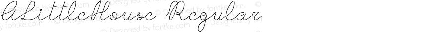 ALittleHouse Regular Version 1