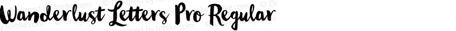 Wanderlust Letters Pro Regular Version 1.001