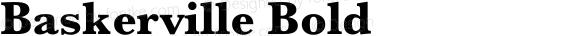 Baskerville Bold