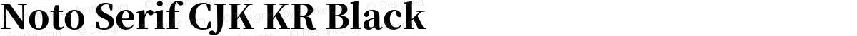 Noto Serif CJK KR Black
