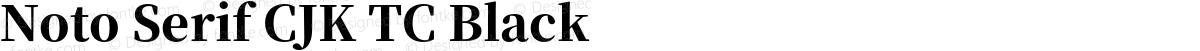 Noto Serif CJK TC Black