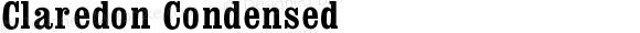 Claredon Condensed