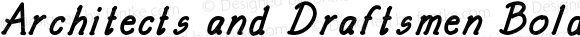 Architects and Draftsmen Bold Italic Version 1.000;PS 001.000;hotconv 1.0.88;makeotf.lib2.5.64775