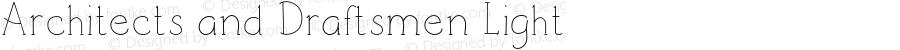 Architects and Draftsmen Light Version 1.000;PS 001.000;hotconv 1.0.88;makeotf.lib2.5.64775