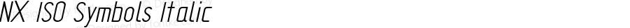 NX ISO Symbols Italic 1.0 Wed Apr 03 11:28:56 1996