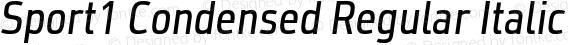 Sport1 Condensed Regular Italic