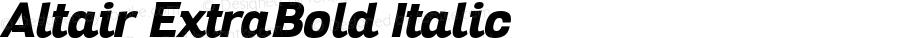 Altair ExtraBold Italic Version 1.000