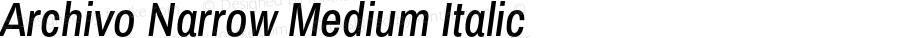 Archivo Narrow Medium Italic Version 1.009;PS 001.009;hotconv 1.0.88;makeotf.lib2.5.64775