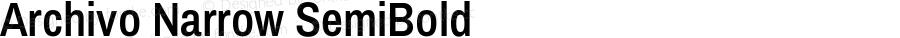 Archivo Narrow SemiBold Version 1.009;PS 001.009;hotconv 1.0.88;makeotf.lib2.5.64775