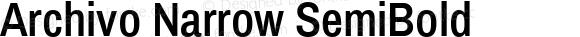 Archivo Narrow SemiBold Version 1.009