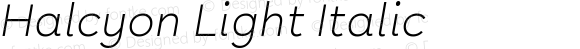 Halcyon Light Italic