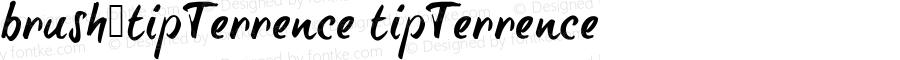 brush-tipTerrence tipTerrence Version Macromedia Fontograp