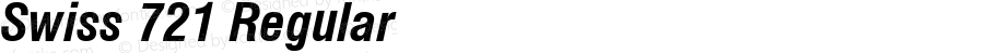 Swiss 721 Bold Condensed Italic