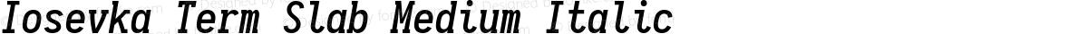 Iosevka Term Slab Medium Italic