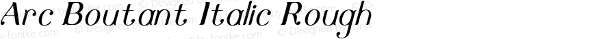 Arc Boutant Italic Rough Version 1.000