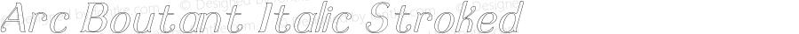 Arc Boutant Italic Stroked Version 1.000;PS 001.000;hotconv 1.0.88;makeotf.lib2.5.64775