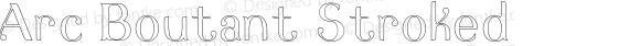 Arc Boutant Stroked Version 1.000;PS 001.000;hotconv 1.0.88;makeotf.lib2.5.64775
