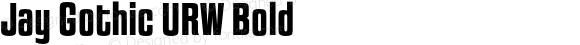 Jay Gothic URW Bold Version 1.000;PS 1.10;hotconv 1.0.57;makeotf.lib2.0.21895