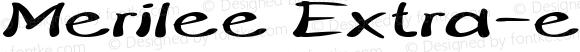 Merilee Extra-expanded Bold Italic